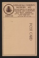 View Armory Show postcard with reproduction of Francis Picabia's painting <em>The dance at the spring</em> digital asset: verso