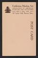 View Armory Show postcard with reproduction of Wassily Kandinsky's painting <em>Improvisation</em> digital asset: verso