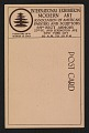 View Armory Show postcard with reproduction of a landscape painting by Ernest Lawson digital asset: verso