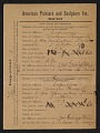 View Armory Show entry form for Morgan Russell's painting <em>Capucines</em> digital asset number 0