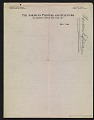 View Walt Kuhn list of works by Matisse and Picasso for the Armory Show digital asset: verso