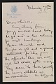 View Walt Kuhn, Boston, Mass. letter to Vera Kuhn, Fort Lee, N.J. digital asset: page