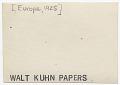 View Walt Kuhn in Europe digital asset: verso