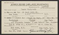 View Yasuo Kuniyoshi's alien registration address record card digital asset number 0