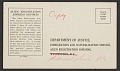 View Yasuo Kuniyoshi's alien registration address record card digital asset number 1