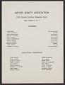 View Artists Equity Association invitation to Yasuo Kuniyoshi testimonial dinner digital asset number 2