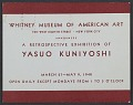 View Whitney Museum of American Art announcement for the retrospective exhibition of Yasuo Kuniyoshi digital asset number 0