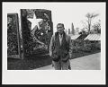 View Photograph of Val Laigo next to his mosaic in Dr. Jose Rizal Park, Seattle, Washington digital asset number 0