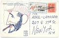 View Conrado Massaguer, Havana, Cuba postcard to Abril Lamarque, New York, N.Y. digital asset: verso