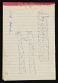 View Bernard Langlais notepad filled with notes and sketches digital asset number 0