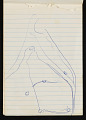 View Bernard Langlais notepad filled with notes and sketches digital asset number 1