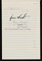 View Bernard Langlais notepad filled with notes and sketches digital asset number 9