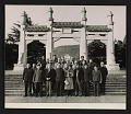 View Sherman E. Lee and members of the Art and Archaeological Delegation of the American Council of Learned Societies at the mausoleum of Sun Yat-sen digital asset number 0