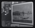 View Photograph of Hughie Lee-Smith with unknown painting digital asset number 0