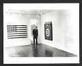 View Leo Castelli in a room of the Jasper Johns exhibit at the Castelli Gallery digital asset number 0