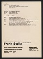 View Exhibition announcement for <em>Frank Stella Recent Paintings</em> at Kasmin Limited digital asset: verso