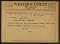 View Telegram from Ileana Sonnabend inviting Leo Castelli to the opening of a Jasper Johns exhibition digital asset number 0