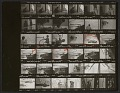 View Contact sheet of negatives showing Roy Lichtenstein and assistants with Greene Street Mural digital asset number 0