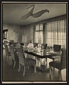 View Dining room with chairs upholstered in fabric by Dorothy Liebes digital asset number 0