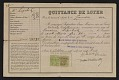 View Jacques Lipchitz rent receipt digital asset number 0