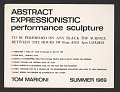 View Abstract Expressionistic performance sculpture digital asset number 0