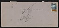 View Sheet of Museum of Normal Art stationery sent from Joseph Kosuth to Lucy Lippard and John Chandler digital asset: envelope