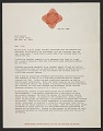 View Miriam Schapiro letter to Lucy R. Lippard digital asset number 0