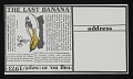 "View Anna Banana ""Banana Cards"" to Lucy R. Lippard digital asset: verso"