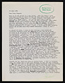 View Alan Gussow letter to Lucy R. Lippard digital asset number 2