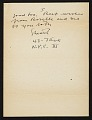 View Stuart Davis, New York, N.Y. letter to Erle Loran, Berkeley, Calif. digital asset number 4