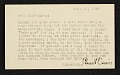 View Stuart Davis, New York, N.Y. postcard to Erle Loran, Berkeley, Calif. digital asset number 0