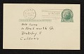 View Stuart Davis, New York, N.Y. postcard to Erle Loran, Berkeley, Calif. digital asset: verso