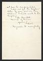 View Louis Lozowick, Bolton Landing, N.Y. letter to Adele Lozowick digital asset: verso