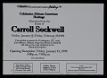View Exhibition announcement for <em>Carroll Sockwell</em>, Mather Gallery, Case Western Reserve University digital asset: verso