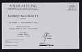 View Adlen Arts Inc. exhibition announcement for <em>Robert McChesney paintings</em> digital asset: verso