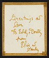 View Elise Asher Christmas card to Dorothy Canning Miller digital asset: verso