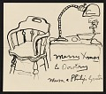 View Philip Guston Christmas card to Dorothy Canning Miller digital asset number 0