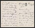 View Henry James letter to Antonio de Navarro digital asset: page