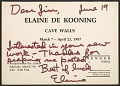 View Elaine Marie De Kooning greeting card to James Madison Hines Mitchell digital asset number 2