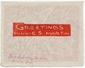 View Minnie S. Martin Christmas card to James Mullen digital asset: inside