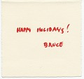 View Bruce North Christmas card to James Mullen digital asset: inside