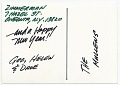 View George Zimmerman Christmas card to James Mullen digital asset: cover back