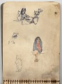 View Hermann Dudley Murphy sketchbook of travels through Mexico digital asset: sketchbook page 2