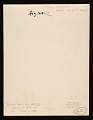 View Louise Nevelson's house on 30th Street digital asset: verso
