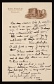 View Unidentified sender, Pittsburgh, Pa. letter to Louise Nevelson digital asset number 0