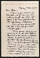 View Max Weber letter to Louise Nevelson digital asset number 0