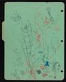 View Doodles on Latin notebook divider digital asset: verso