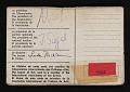 View International Association of Art Critics identification card digital asset: verso