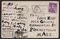 View Jim Dine postcard to Ivan Karp digital asset: verso