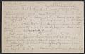 View Morton Schamberg letter to Walter Pach digital asset: postcard back 6